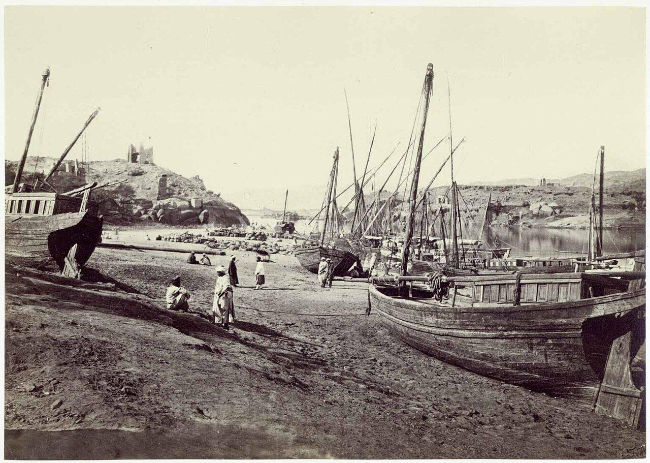 Асуан. Возле острова Филе.1862 года