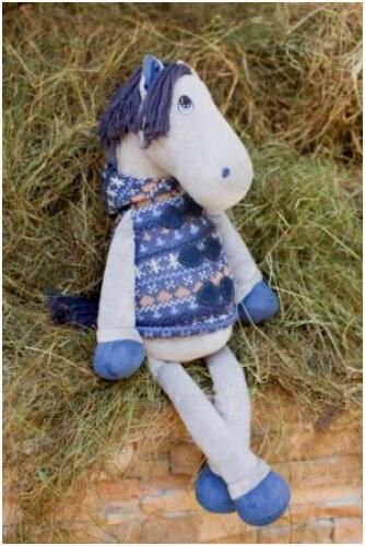 мягкая игрушка лошадь - символ 2014 года