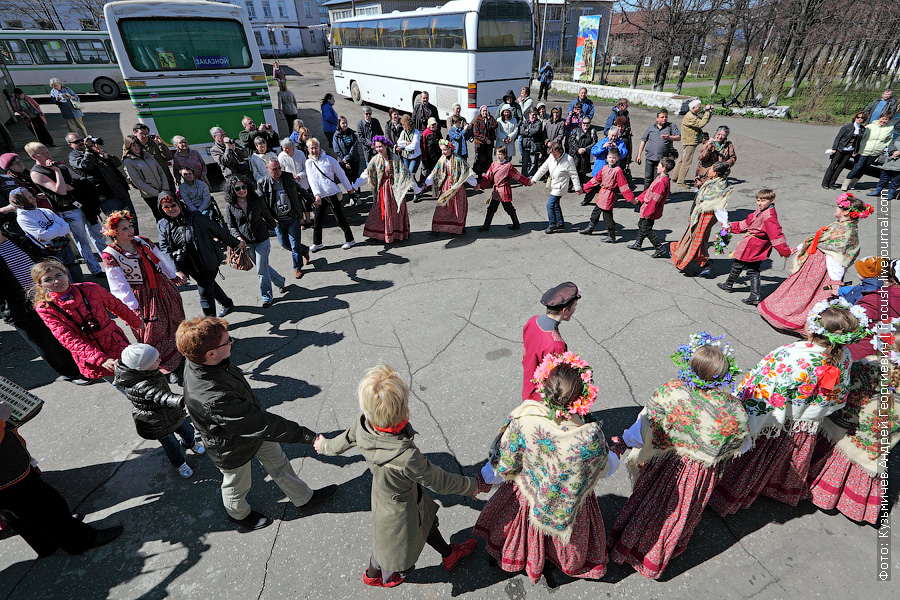 встреча речных туристов теплохода Василий Чапаев в Советске Кировской области