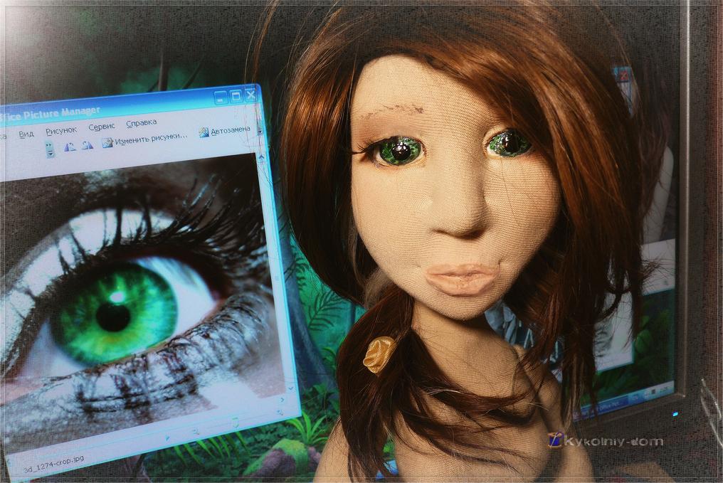 Портретная кукла по фото Ева. Кукла с портретным сходством. Объёмное портретное лицо.