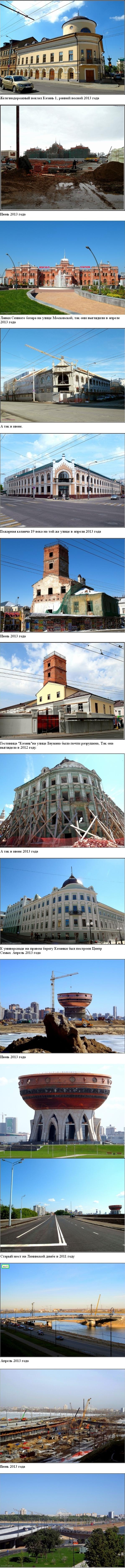 Казань до и после Универсиады 2013