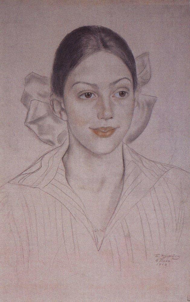 Портрет Н.А.Кузнецовой. 1919.jpg