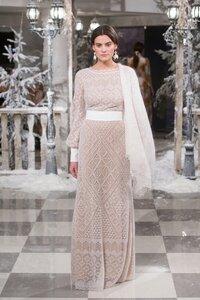 Аристократичность по-оренбургски - платье спицами