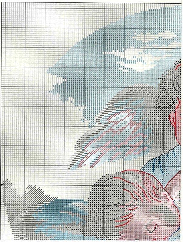 Схема вышивки для детей ангел хранитель