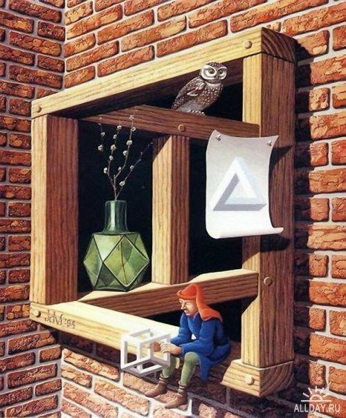 "Jos de Mey ""In-sight window for Ars et Mathesis friends"", 1994"
