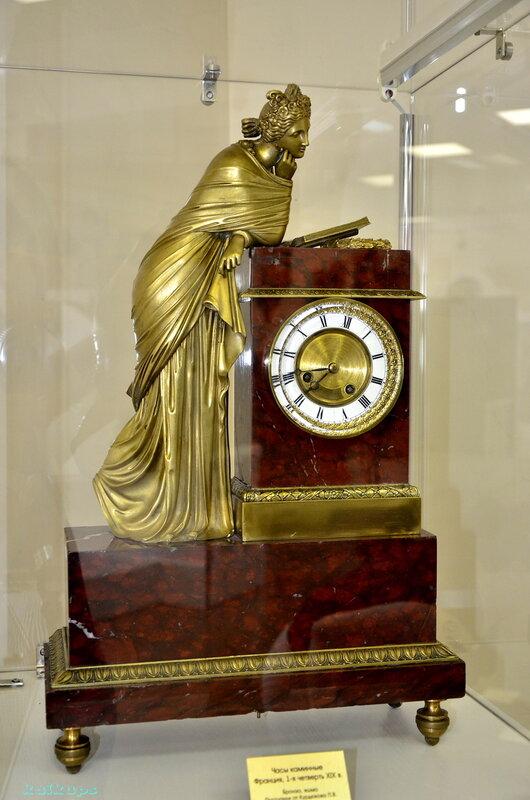 Часы каминные XIX век. Франция.