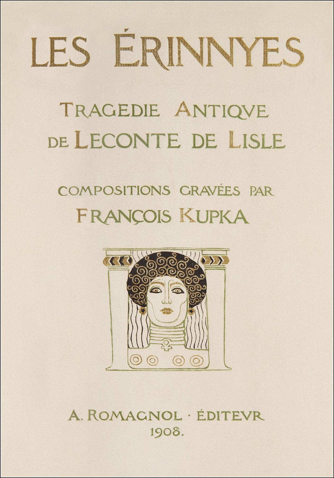 """Résultat de recherche d'images pour """"Les Érinnyes de Leconte de Lisle kupka"""""""