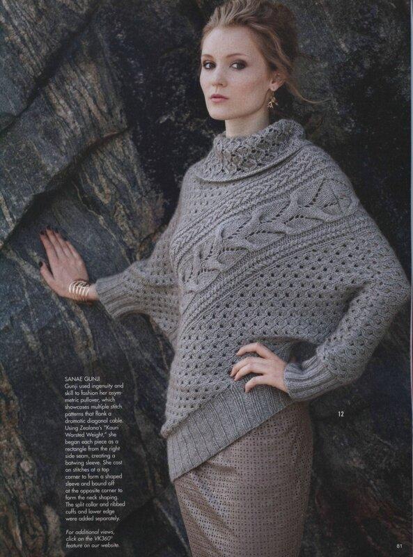 Модель вязанного женского свитера