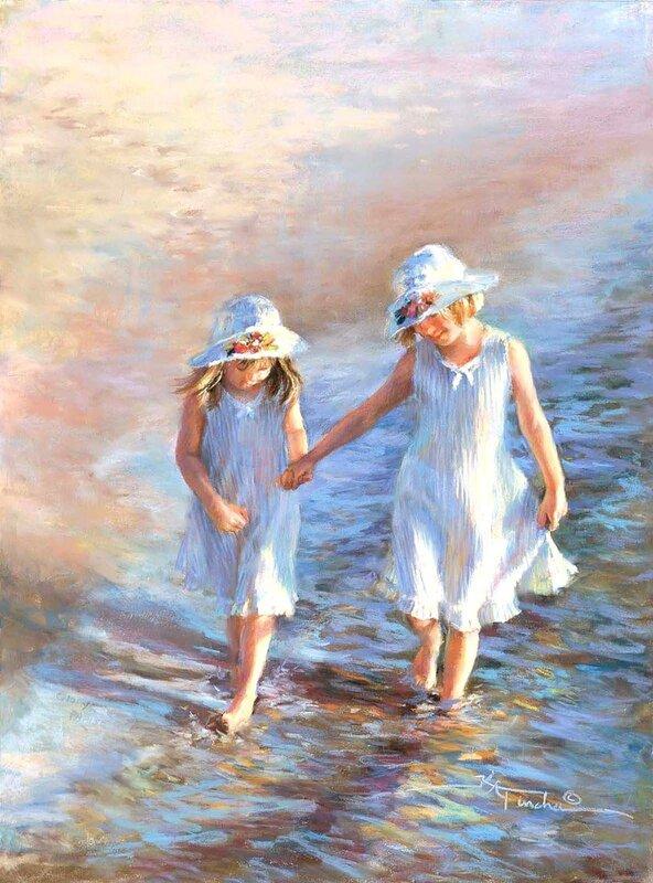 Все дети драгоценные дары от Бога. Художница Kathy Fincher