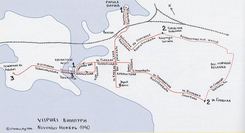 Схема трамвайных линий, ноябрь