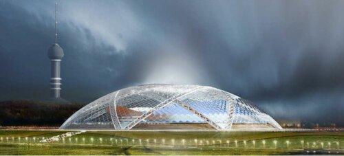 Проект стадиона к Чемпионату мира по футболу 2018 в Самаре, внешний вид