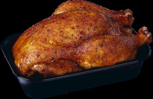 Курица запеченная под тертым картофелем