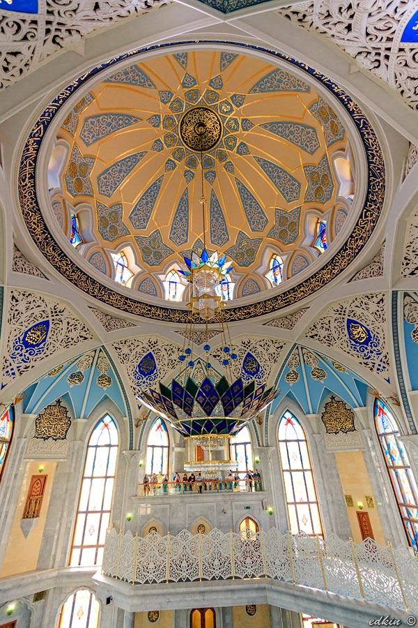Казань, кремль, интерьеры мечети Кул Шариф