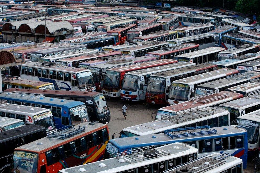 забастовка водителей автобусов