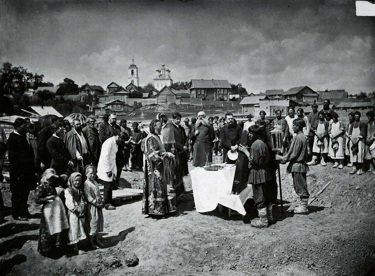 Закладка ремесленного училища в селе Павлове Нижегородской губернии 1895.
