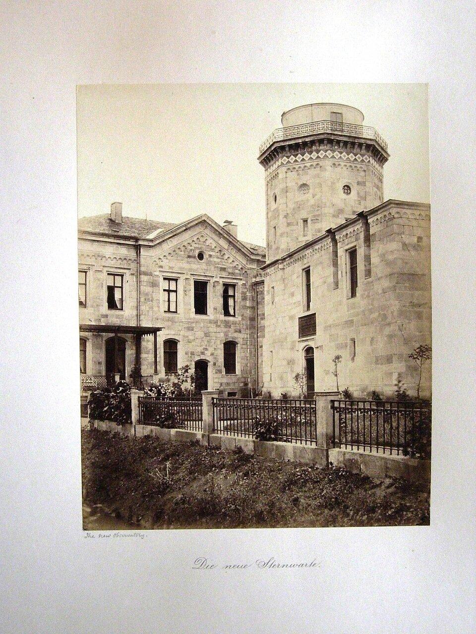 Die neue Sternwarte. [Photographs of Gotha, 1858. ]