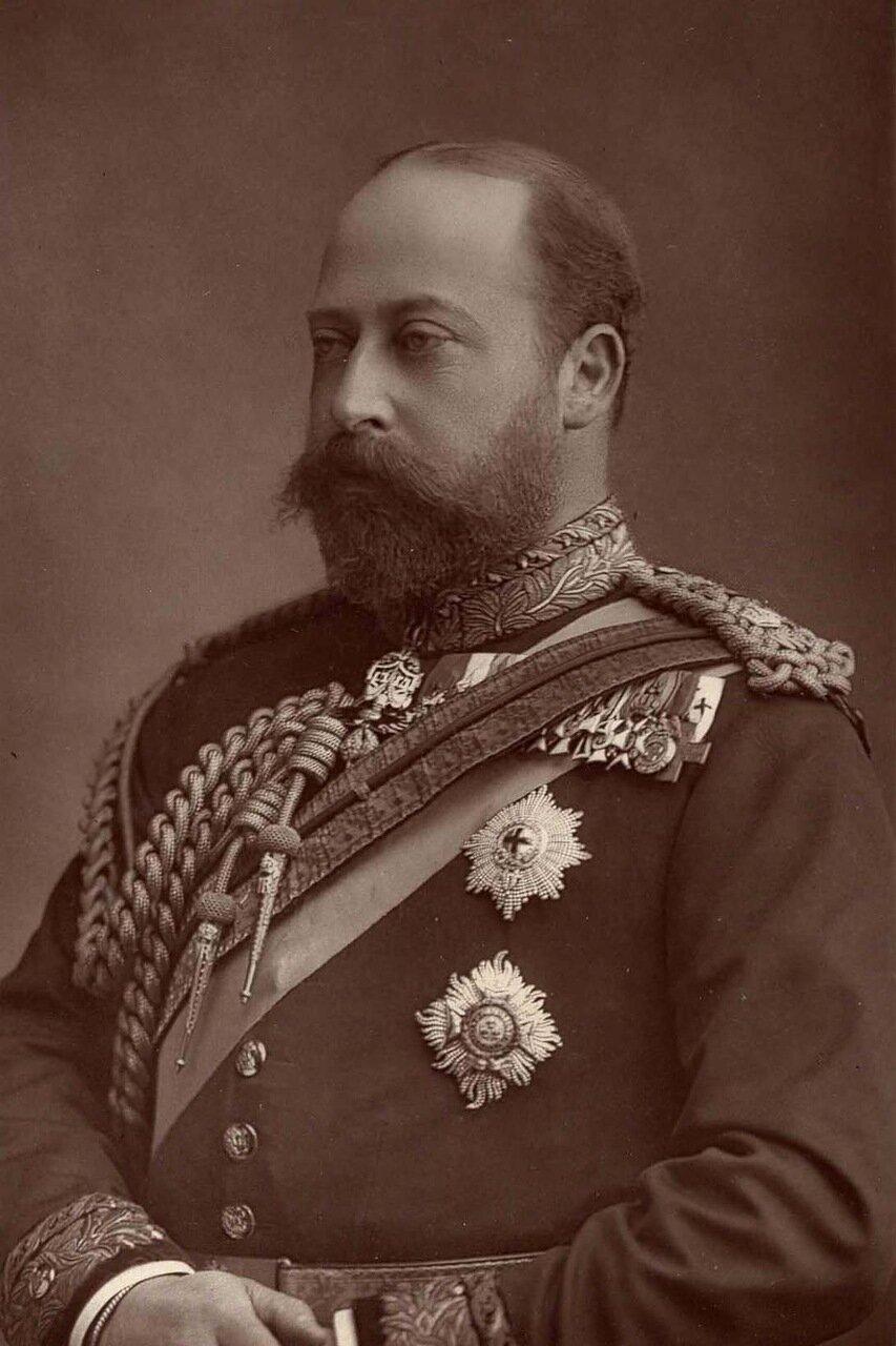 Альберт Эдуард, принц Уэльский, 1841-1910. Он взошел на британский престол после смерти своей матери королевы Виктории и правил в течение 9 лет, как Эдвард VII