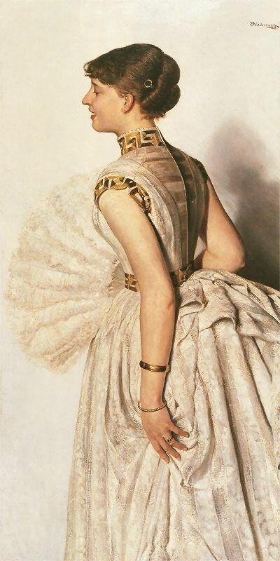 Портрет невесты,1887_ (Мария Гралевская)Яцек Мальчевский(1854 -  1929)
