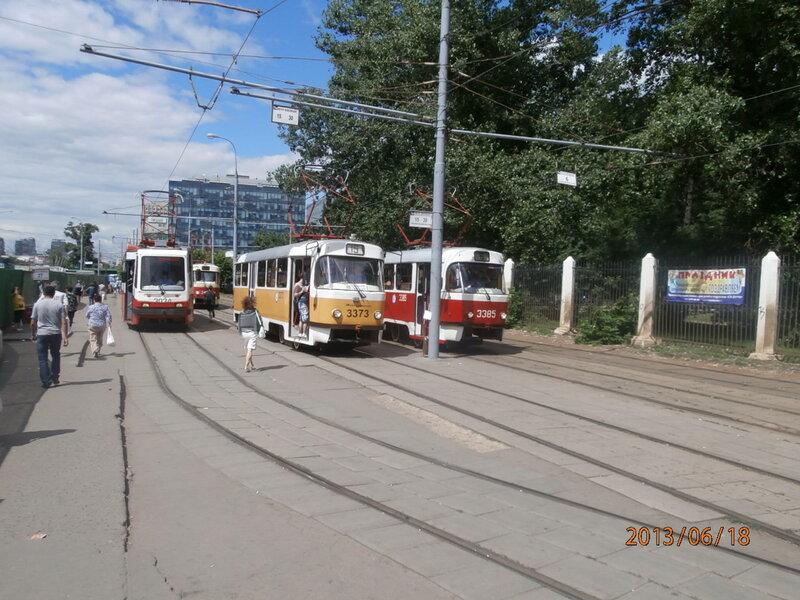 Трамваи на Войковской