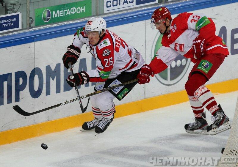 «Спартак» vs «Донбасс» 2:1 чемпионат КХЛ 2013-2014 (Фото)