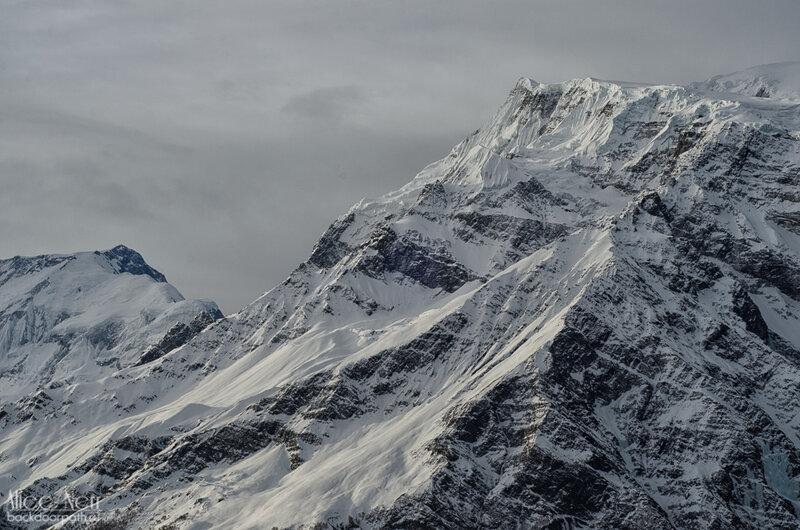 снежные пики, гималаи, непал
