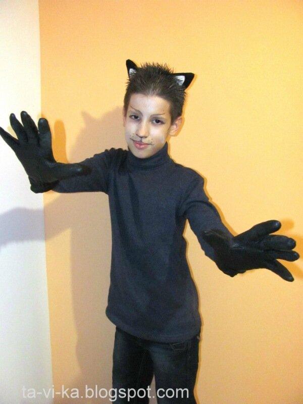 Костюм кошки на хэллоуин своими руками
