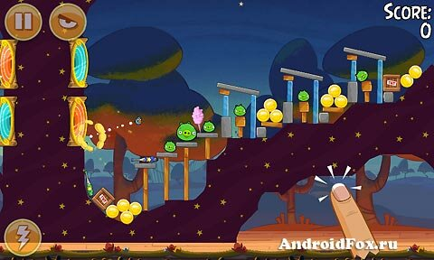 Игра Angry Birds Seasons: Abra-Ca-Bacon для Android