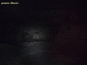 Фонарь Petzl Tactikka XP в турбо (Boost) режиме светит так