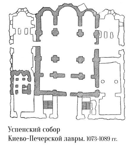 Успенский собор Печерского монастыря (Киево-Печерской лавры), план