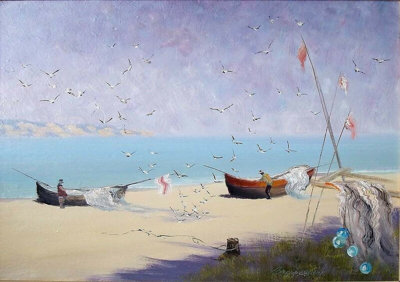 Волны, чайки, море расплескалось... Георгий Задорожнюк