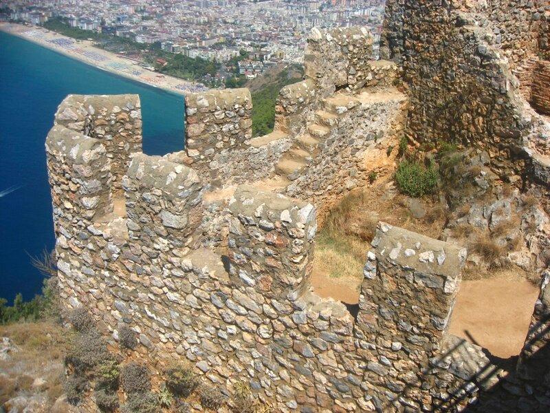 Ичкале, крепость в Аланьи, Турция, крепость на горе,
