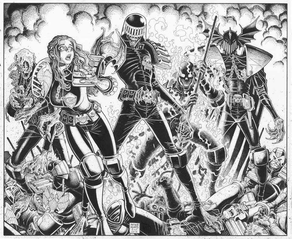 The Dark Judges By Art Adams Http Drawblr Tumblr Com