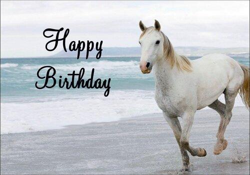 Поздравления с днем рождения картинки с лошадью 71