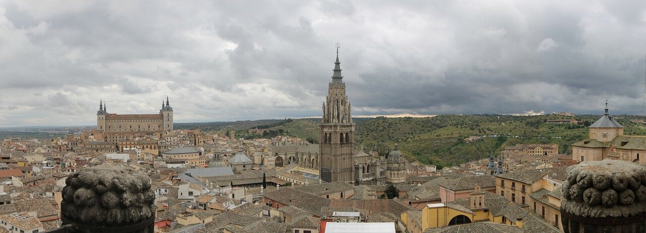 Toledo. View from the bell tower of San Ildefonso