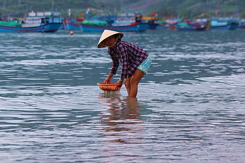 В рыбацком посёлке