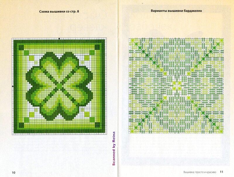 Итальянская схема вышивок