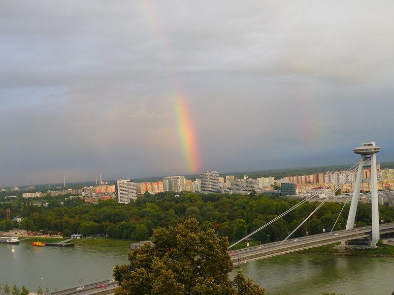 Братислава, Словакия - вид на город (The Bratislava, Slovakia - view of the city)