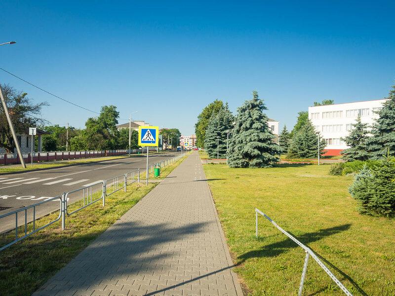 Типичный белорусский городок.