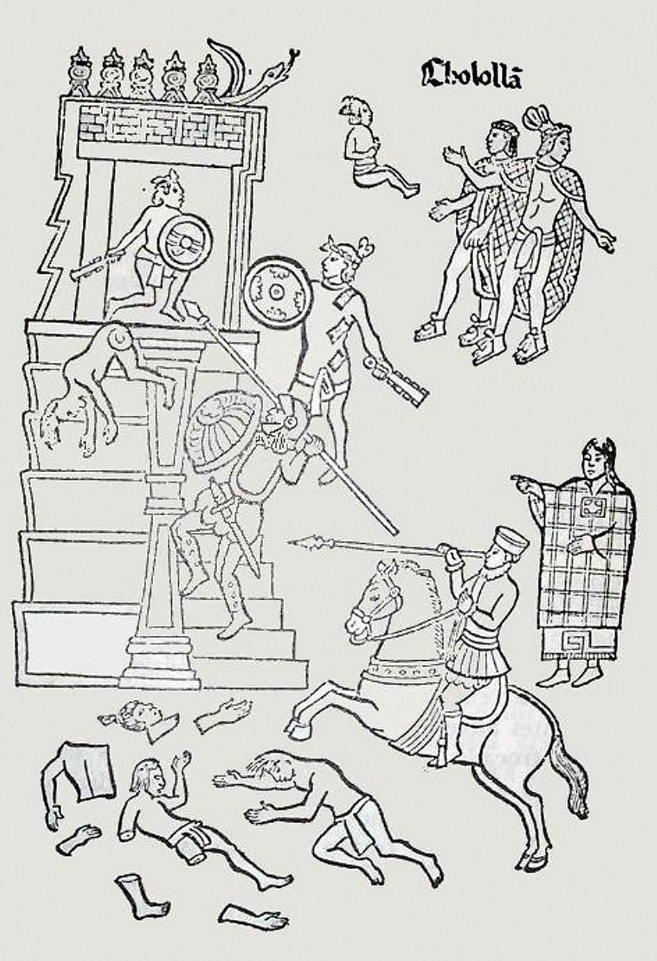 Резня в Чолуле. Тласкаланское изображение XVI века.jpg