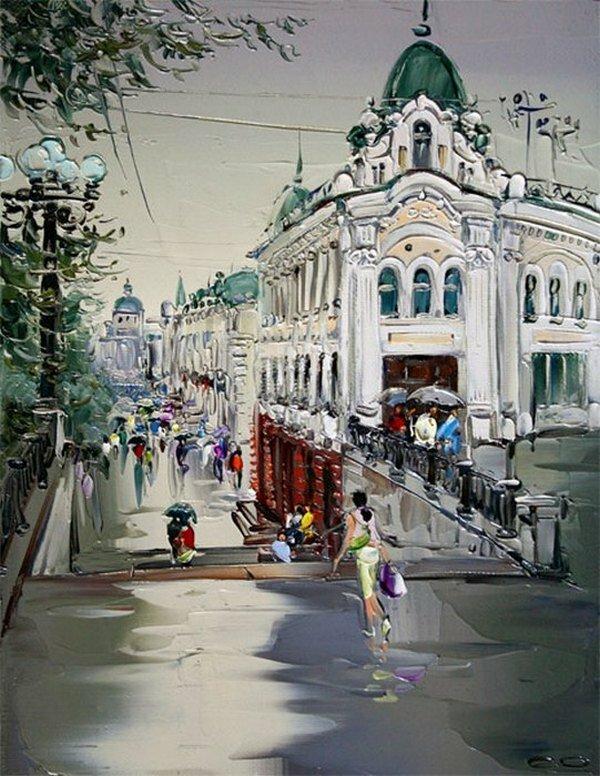 Рисунок города омска