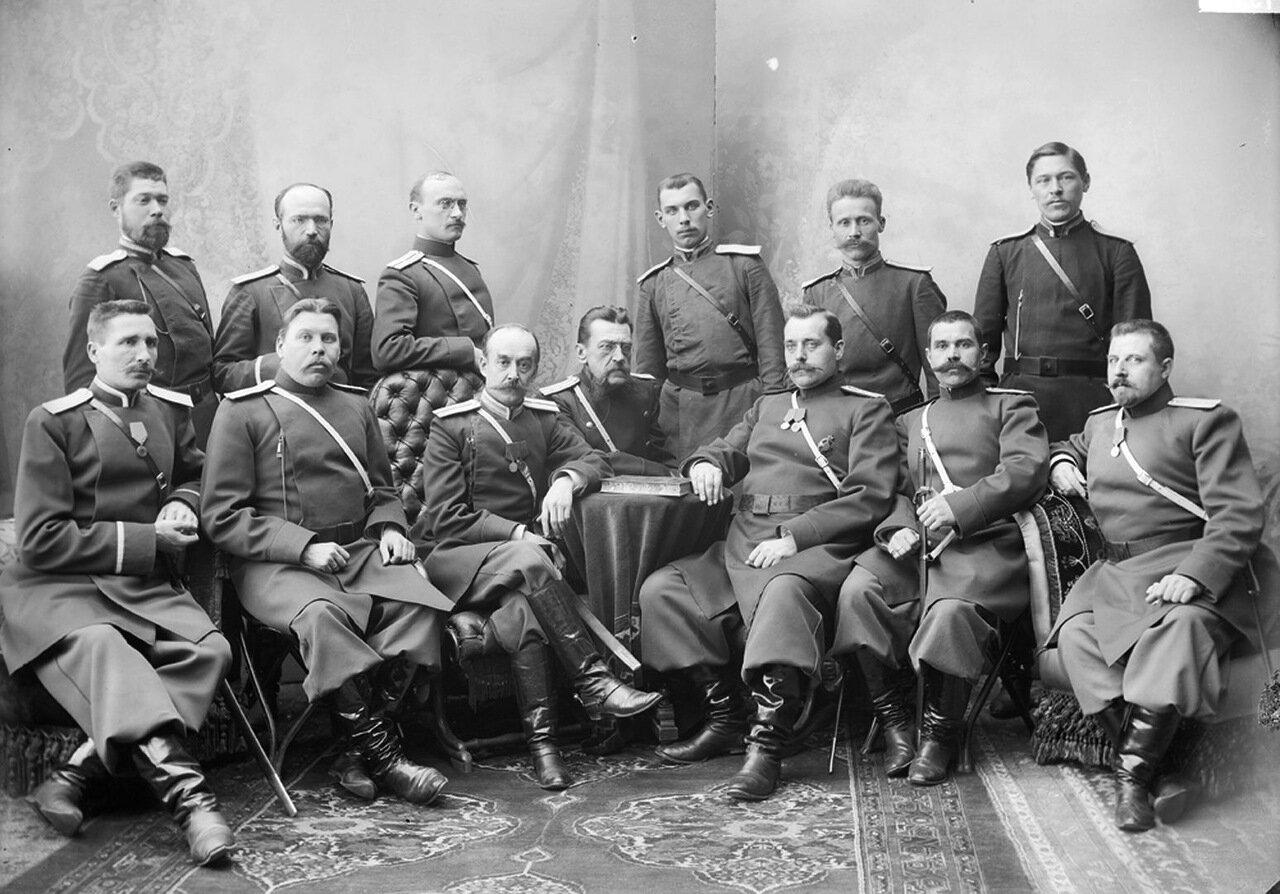 Группа полиции I части с приставом Пуаре. к. XIX – н. ХХ вв.