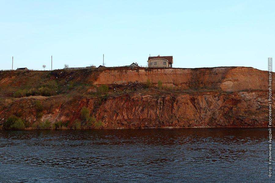 дом на обрыве Волги