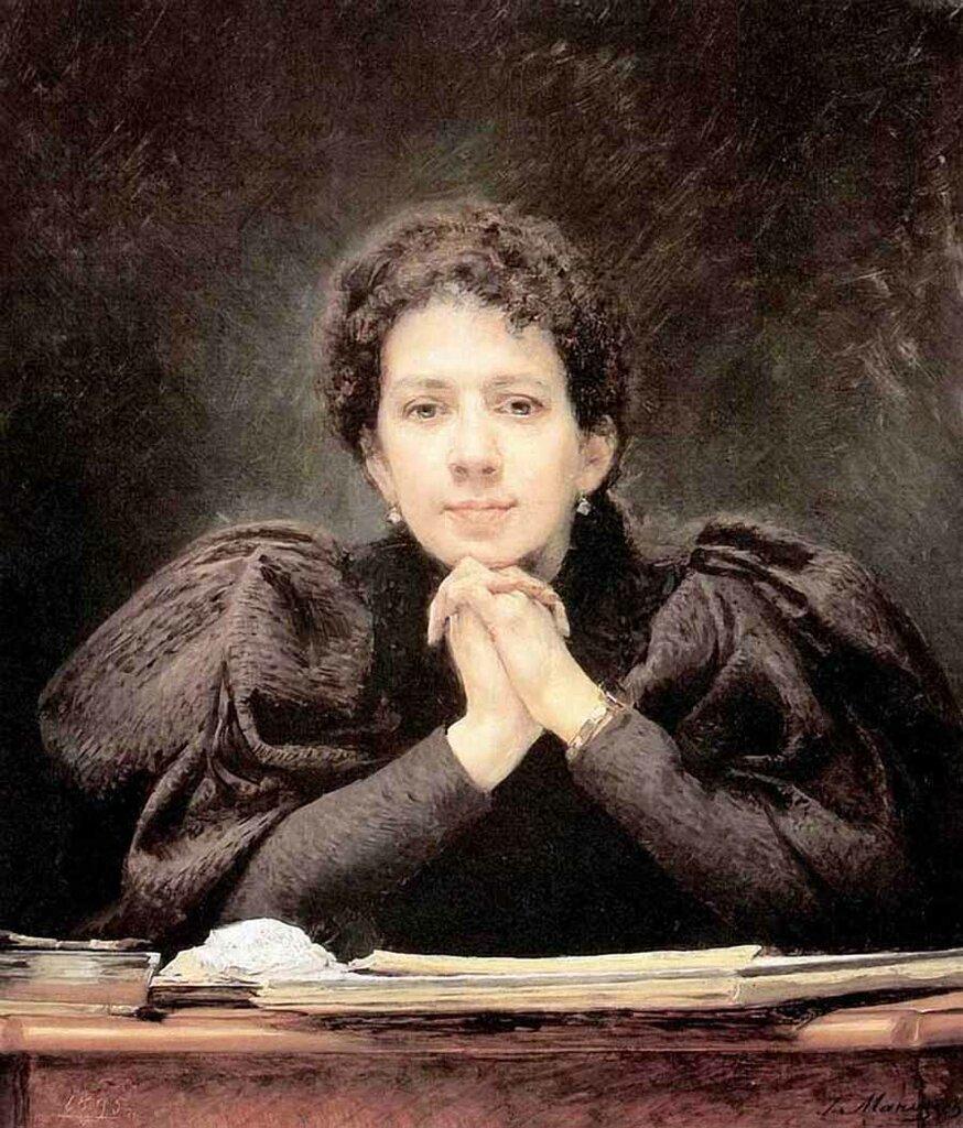 Портрет Стеллы Семеновны Манизер 1895г., Манизер, Генрих Матвеевич (1847-1925)