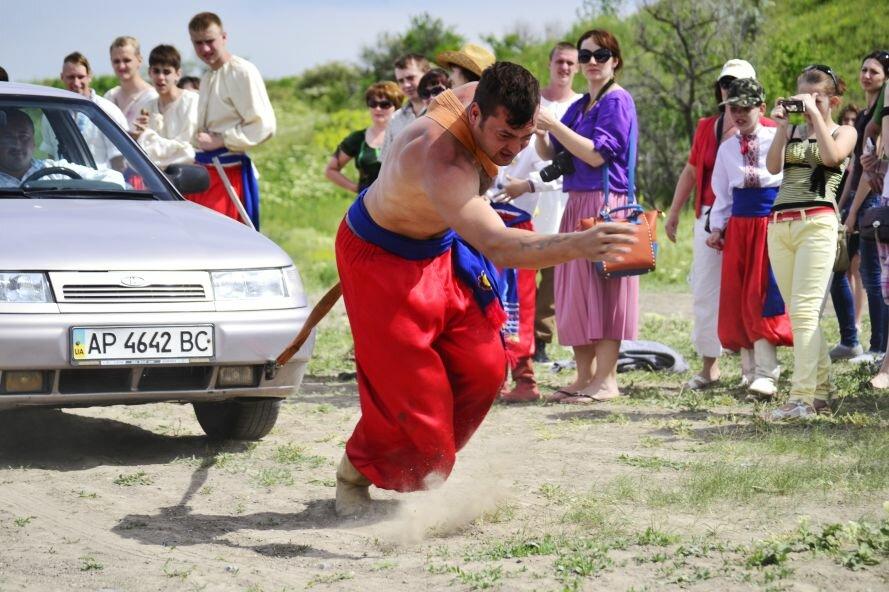 Запорожские казаки прошли «9 порогов»: сдвигали воз весом в 2 тонны и метали камни (ФОТОРЕПОРТАЖ), фото-5