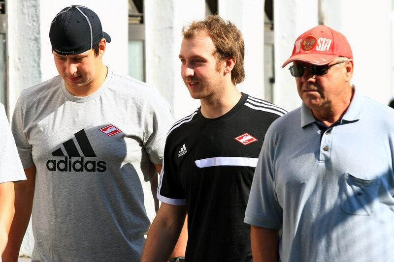 Первая тренировка хоккейного «Спартака» (Фото)
