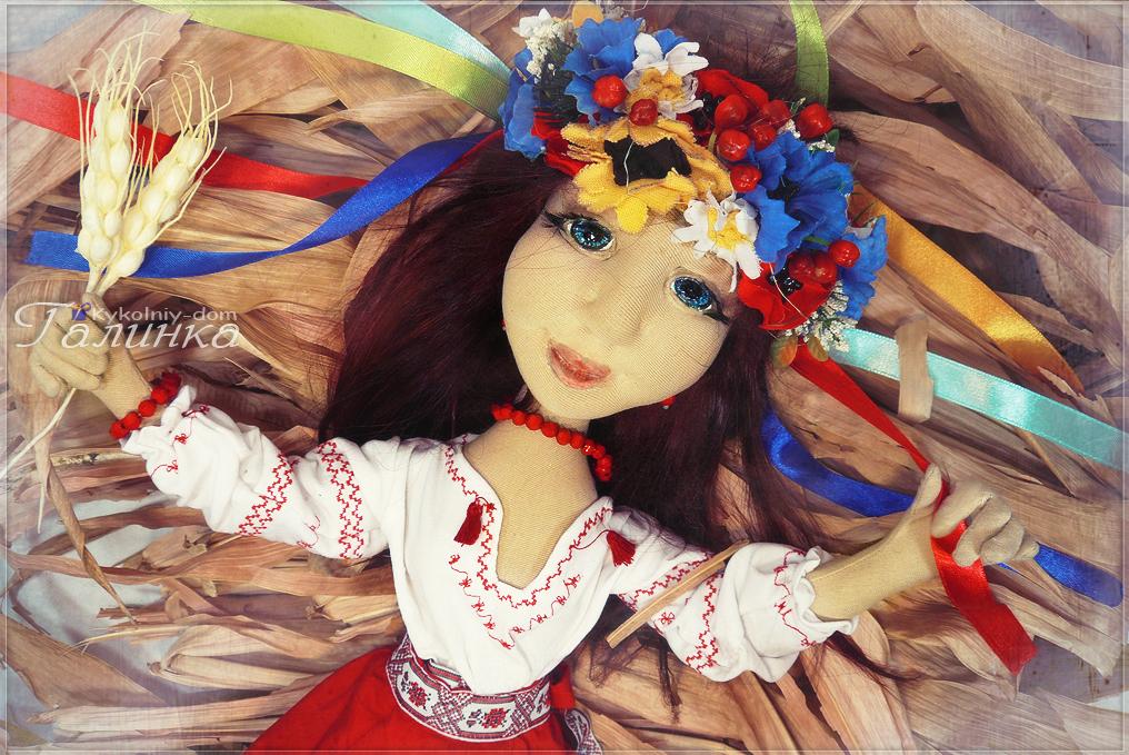Украинка кукла текстильная в национальной украинской одежде.
