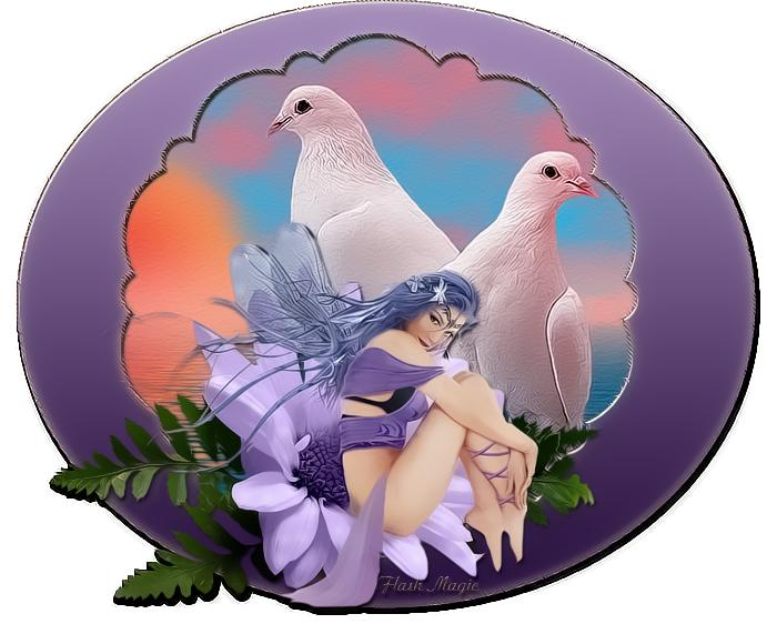 Голуби и фея