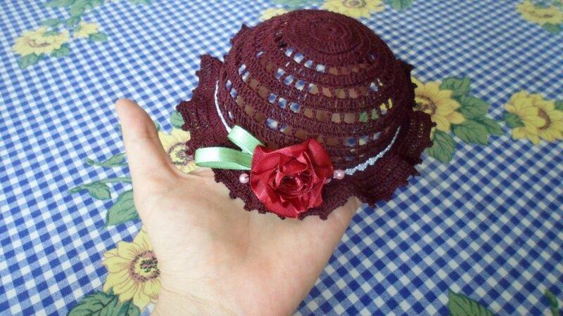Вязание шляпа для куклы