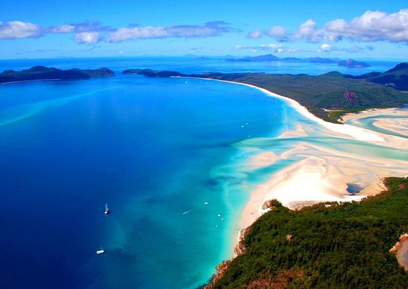 17. Уайт-Хэвен («Белый рай»), остров Уайтсандей, Австралия . Лучшее время для посещения: круглый год