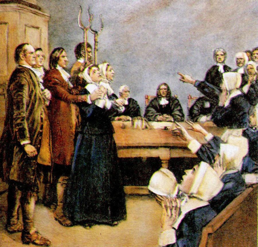 Один из самых известных судебных процессов — Салемская охота на ведьм в 1692-93 году, в результате к